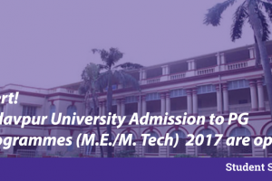 jadavpur pg admissions 2017 courses fees placements